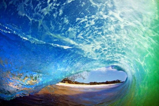 farget bølge